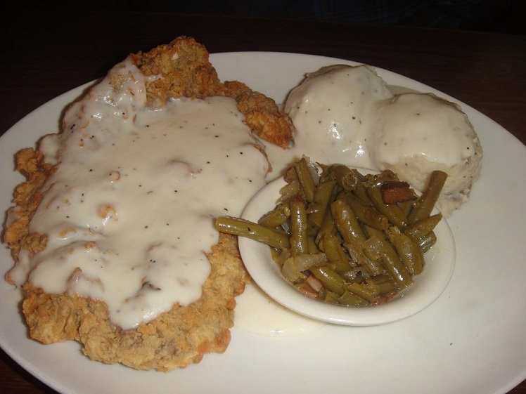 Cotton Patch * CHICKEN FRIED STEAK * white cream gravy - Seasonal and ...