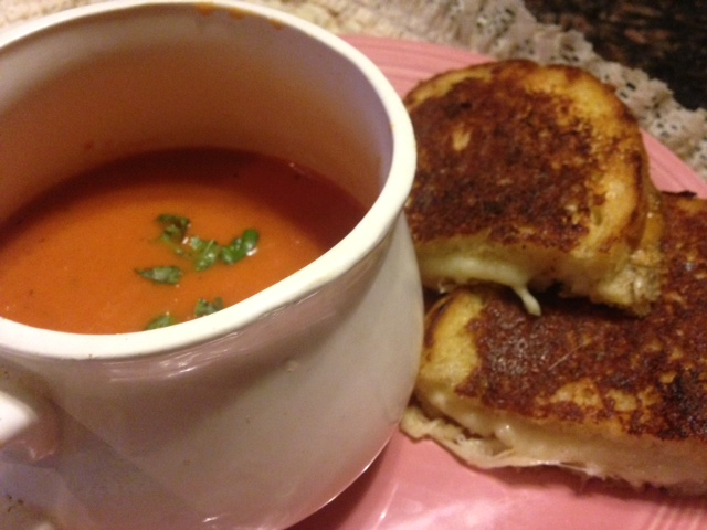 gourmet tomato bisque soup and parmesan crust grilled 3