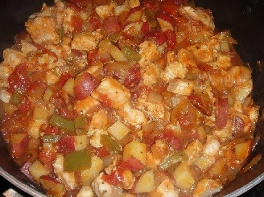 Carolina BACON CATFISH STEW ** Potatoes, tomatoes, corn ** wonderful ...