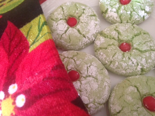 Green Christmas Grinch Cookies Soft Lime Crinkles A Little Bit