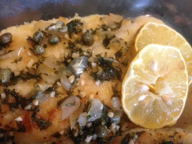 LEMON SOLE PICCATA * can use other fish, chicken or veal too * Lemon ...